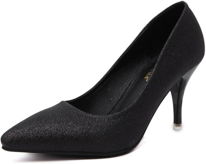 1TO9 Womens Spikes Stilettos Low-Cut Uppers No-Closure Black Sequin Pumps shoes - 6.5 B(M) US