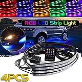 Balight RGB LED Strip Under Car Tube Underglow Underbody System Neon Light Kit Remote Control 1 pcs