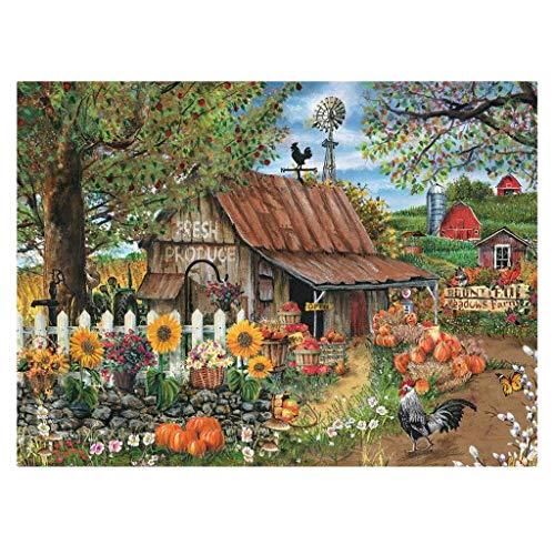 IHGWE Adult Educational Puzzle 1000-teilige Berghütte, klassisches Kinderpuzzle, Impossible Challenge Jigsaw Family Game, Geschenk für Freunde, Berghütte