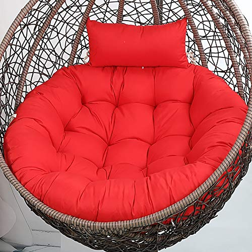 Hanging Swing Basket Rocking Chair Cushion,Garden Patio Indoor Outdoor Chaise Lounge Cushion Ties Straps Washable Removable Cushion Only