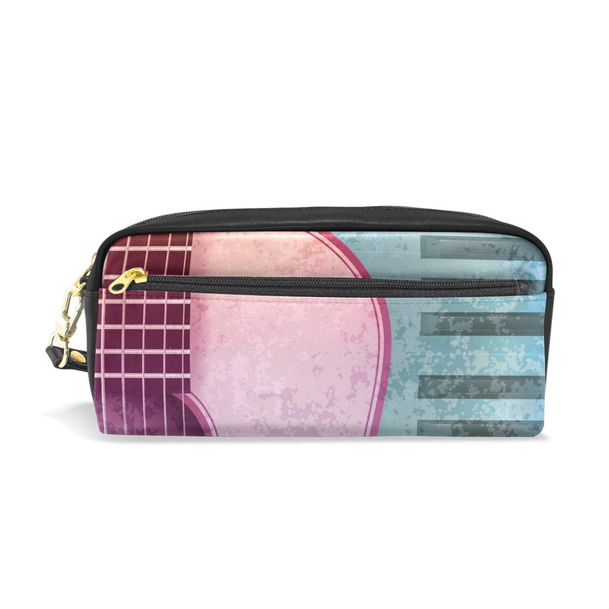 CPYang - Estuche de piel con cremallera para lápices y guitarras: Amazon.es: Oficina y papelería