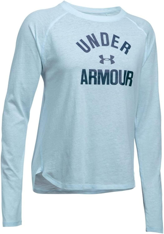 Women's Under Armour Tri-Blend Long Sleeve Graphic, Skylight Heather, Medium