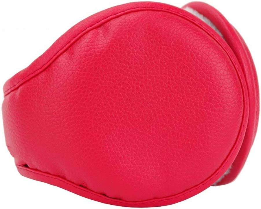 ZYXLN-Earmuffs,Earmuffs for Women Earmuffs for Men Warm Earmuffs Couple Earmuffs Foldable and Stretchable Winter Outdoor Earmuffs Behind The Head Earmuffs (Color : Red)
