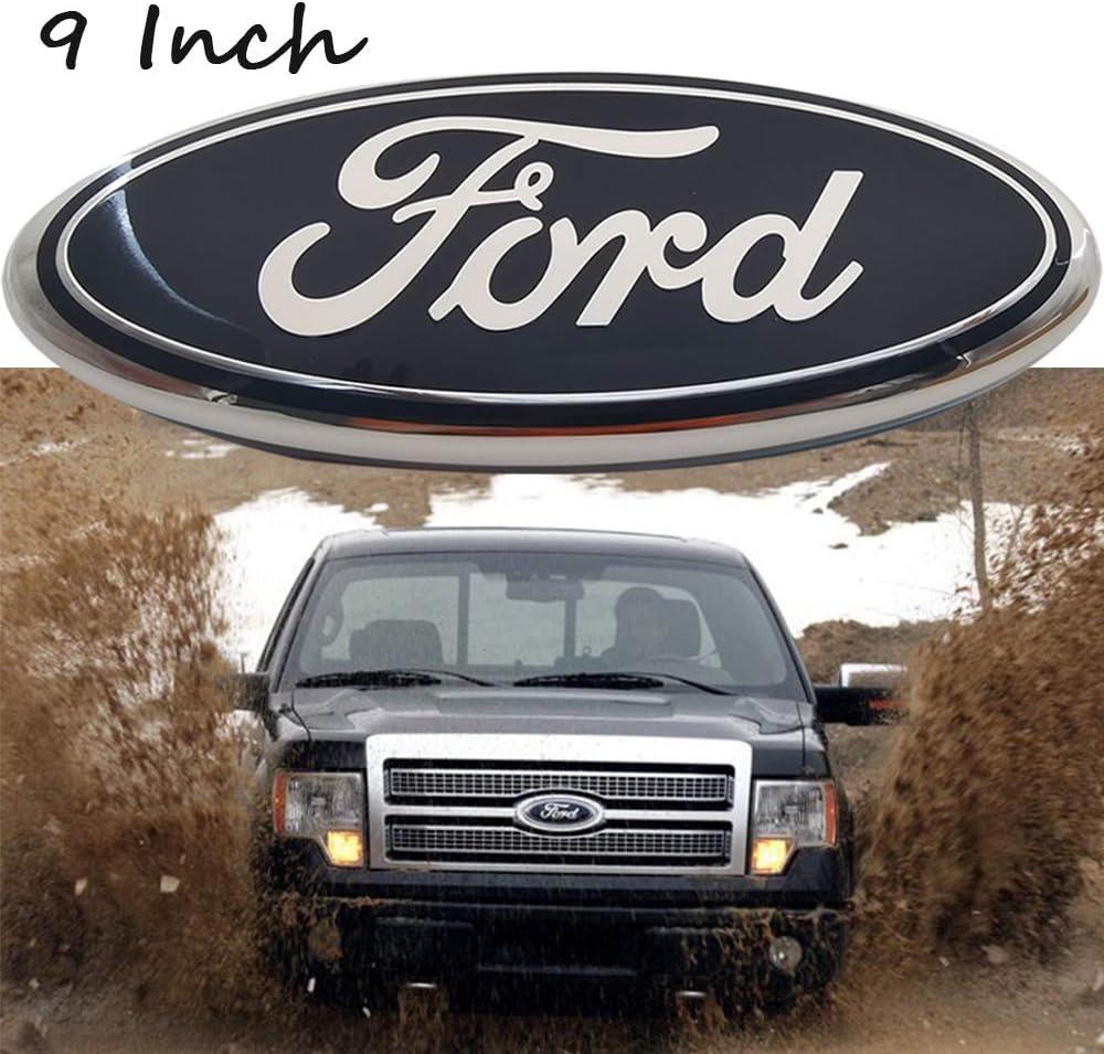 Emblems 2004-2014 F150 Black Ford Emblem Oval 9 X 3.5 Front Grille ...