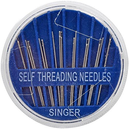 Singer Self-Threading Sewing Needles, 1 Pack, Assorted 15/Pkg