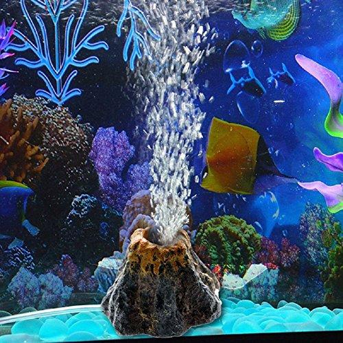 ECMQS Vulkan Form Aquarium Luftpumpe Blasen Stein mit 1 Meter weicher Röhre, Aquarium Spielzeug Fischbecken Verzierungs Dekoration