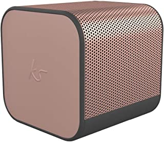 KitSound Boom Cube Metallic Portable Rechargeable Wireless Bluetooth Speaker, Rose Gold