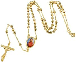 Bishilin Stainless Steel Fashion Men Women Necklace Pendant Gold Jesus Crucifix Cross Link 22Inch