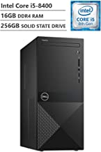 Dell Vostro Business Desktop, Intel Core i5-8400 2.80GHz Processor (9MB Cache, Up to 4.00GHz), Intel UHD Graphics 630, 16GB Memory, 256GB Solid State Drive, DVD, HDMI, Windows 10 Pro, Black