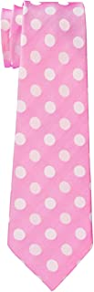 Retreez Two-Color Polka Dots Microfiber Boy's Tie - 8-10 years -