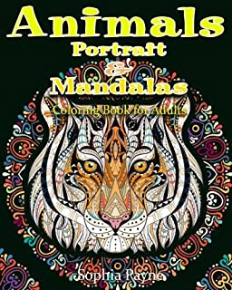 Animals Portrait & Mandalas: coloring book for adults (Volume 1)