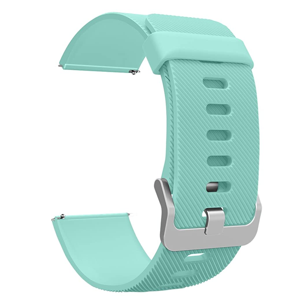 UMTELE Compatible for Fitbit Blaze Band, Soft Flexible Silicone Strap Quick Release Pins Easy Wearing Band Replacement with Fitbit Blaze Smart Fitness Watch,Black Black Buckle (Turquoise, Large)