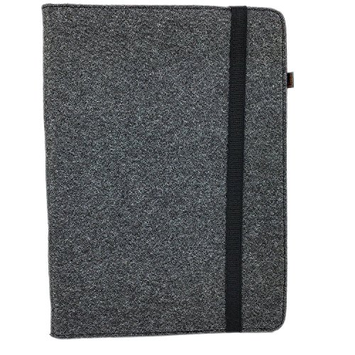 Organizer Tasche aus Filz Filztasche Tablethülle Schutzhülle Universell 7.0 - 10.1 Zoll, Für Samsung, iPad, Huawei, Medion (A4 Format und 10.1'' Tablet,- Smartphonehülle, Schwarz / Rot meliert)