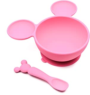 Best Bumkins Disney Minnie Mouse Suction Silicone Baby Feeding Set, Bowl, Lid, Spoon, BPA-Free, First Feeding, Baby Led Weaning Reviews