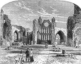 SCOTLAND. The Central Highlands. Elgin Cathedral - c1886 - old print - antique print - vintage print - Scotland art prints