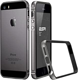 ESR Case for iPhone SE, iPhone SE Metal Bumper [Bumper Only No Back Plate] Metal Frame/Bumper for iPhone 5 / 5s / SE Fluencia Series [Shock Absorbent](Gray)
