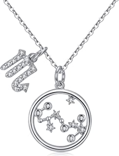 U7 Zodiac Signe Collier Horoscope Dog Tag Star Constellation anniversaire Collier
