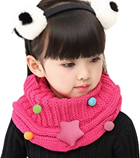 Kids Toddler Winter Thicken Warm Scarf Wraps Wool Knitted lovely Star Neck Warmer Scarves Thermal O Ring Neck Scarves