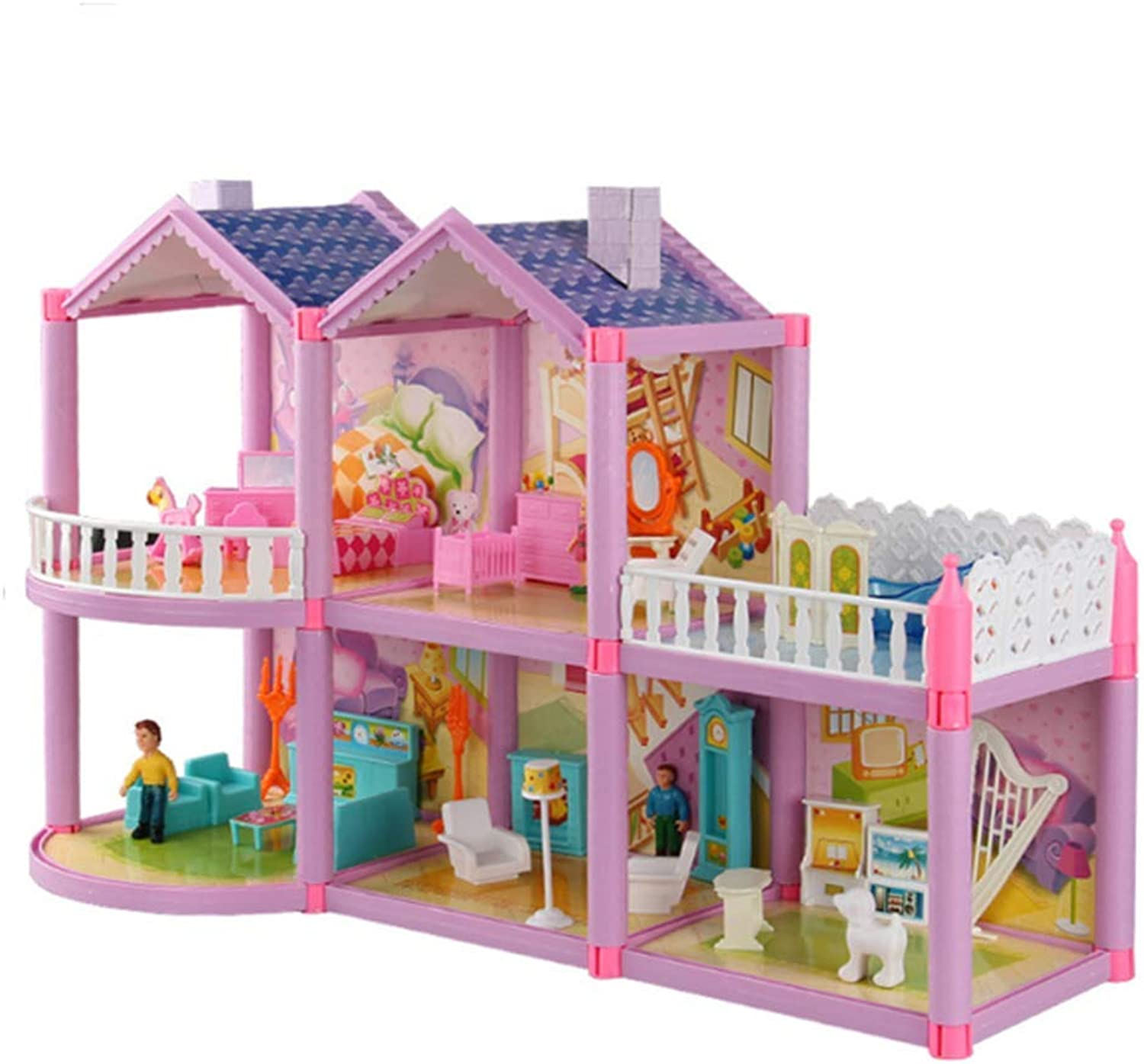 AIYUN Simulation House Doll House Villa DIY Assembled House Sweet House Castle Model Girl Toy Gift