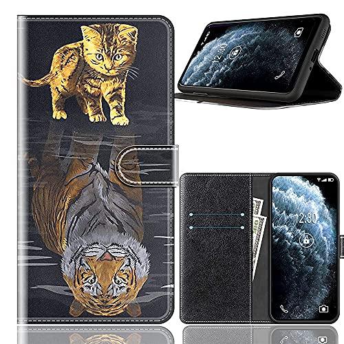 Sinyunron Handy Schutzhülle Kompatibel mit DOOGEE BL7000 Hülle Handy Tasche Hülle Handyhülle Lederhülle mit Kartenfächer,Ständer,Magnetverschluss,Hülle01C