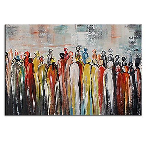 IPLST@ Arte Moderna della Parete Pittura a Immagini per la Decorazione del Salone, Astratti Persone Pittura a Olio Vernice del Tessuto Immagini per pareti -24x36inch(Nessuna Cornice, Senza barella)