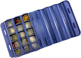 AIPOKE Silicone Ice Cube Tray 15 Cubes Mold with Lid BPA-Free Flexible Easy Release (Navy Blue)