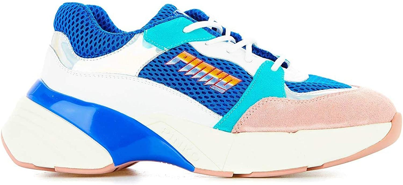 PINKO Women's 1H20LZY5BREZN Multicolor Fabric Sneakers