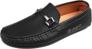 Bitiger Men's Driver Moccasin Comfortable Casual Slip on Shoes Slip-on Driving Loafer - Breathable Durable & Anti-Slip Male Business Work Penny