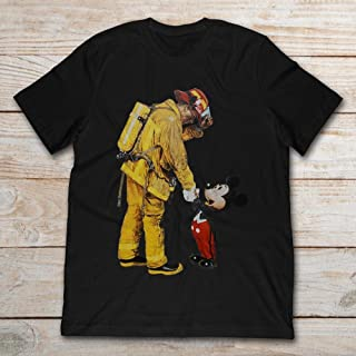 Firefighter With Mickey Mouse Gifts Funny For 2020 T-shirts, Men, Woman, T Shirts, Hoodie, Sweatshirt, Long Sleeve, Tank Top, Shirt, T-shirt