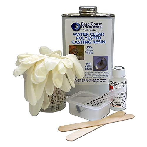 Water Clear Casting Kit 2 - 1kg resin: Amazon co uk: Garden & Outdoors