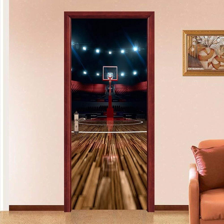 XIAOXINYUAN 3D Tür Aufkleber DIY Abnehmbare Wasserdichte Basketball Stehen Wandaufkleber Wandbilder Tapete Für Schlafzimmer Hause Weihnachtsdekor B07K2SHZ9W