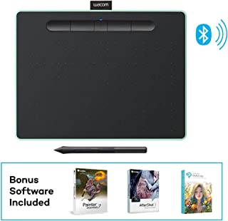 Wacom Intuos Wireless Graphic Tablet with 3 Bonus Software Included, 10.4