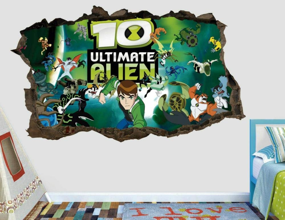 DDSYJ 3D Wall Stickers Alien New Max 69% OFF York Mall Custom Smashed Kids D Decal