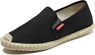 Hommes Espadrilles Couleur Unie Respirant léger Chaussures en Toile Anti-dérapant sans Lacet Bas décontracté Simple Mocassins