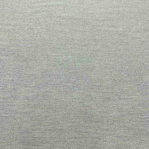 Kt KILOtela Tela loneta reciclada Twill - Reciclado de Jeans, Vaqueros - 98% algodón Reciclado, 2% Otras Fibras (72% GRS) - Retal de 100 cm Largo x 280 cm Ancho | Gris ─ 1 Metro