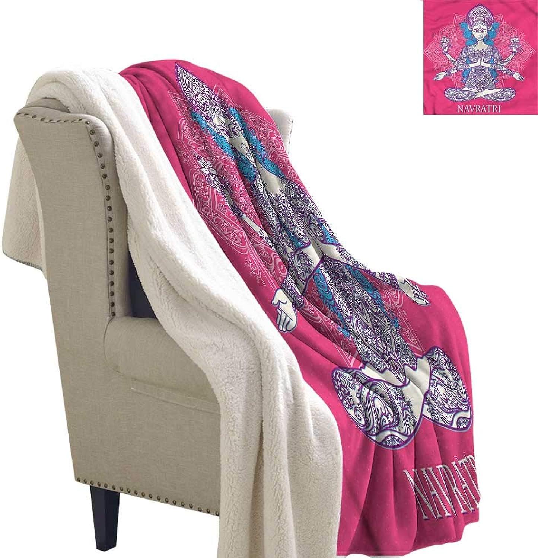 Zodel Cashmere Velvet Chakra Yoga Mandala Girl Autumn and Winter Thick Blanket W59 x L31