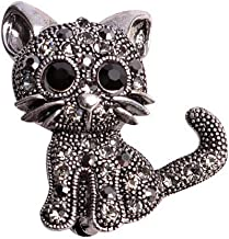 Christmas Best Gift!!!Kacowpper Restoring Ancient Ways Cat Cat Brooch Pin Couple Memorial Jewelry Love Gifts