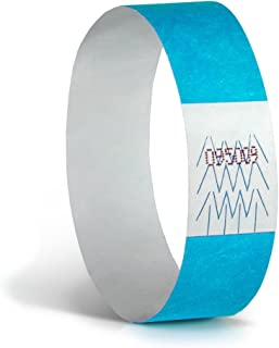 """Concept Wristband: WB34BL500 Wristbands for events, 3/4"""", Neon Blue (Pack of 500) -spunbonded olefin paper"""