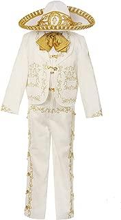 Rain Kids Boys Ivory Rooster Embroidery Elegant 6 Pc Charro Suit 12M-6