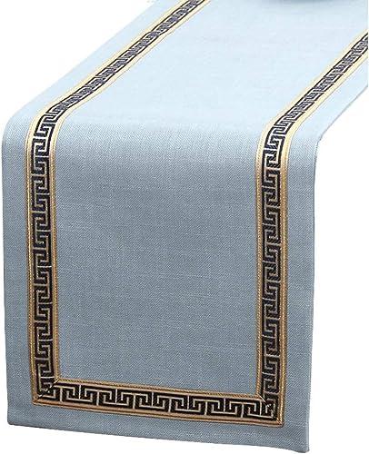connotación de lujo discreta YDDZ Table Runner American Simple Zen Table Flag, Mantel Mantel Mantel de algodón en Color Liso, Color café Claro   azul Claro   azul verde, Decoración Hogar   Boda   Regalo, 33x150cm   33 × 200cm   33x240cm ++  hasta un 60% de descuento