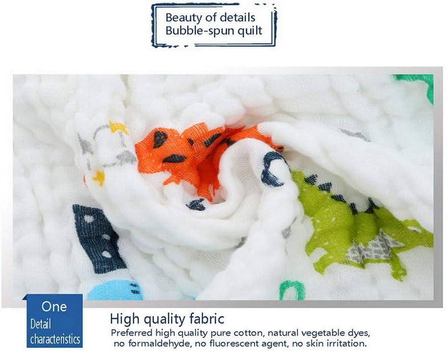 Baby-Badetuch 6-lagig Decken f/ür Schlaf Premewish Baby Decke Mull-Baumwolle 110 x 110 cm Thermo-Musselin
