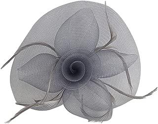 Baoblaze Flower Mesh Feather Fascinator Hat Hairpin Weddings Races Prom Ladies Fascinator