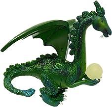 Flygande drake som håller en bollpärla självlysande hartsstaty, sovrumslyst harts hantverksprydnader, Garden Decor Solar L...