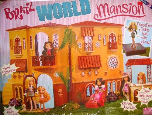 Bratz World Mansion Dollhouse w/Spiral Stair Case & More
