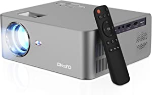 Video Projector 720P 5500L Max 250inch Display Supported, Built in HiFi Speaker for Movie Nights, Home Theater by YOHOOLYO