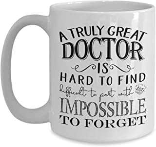 A Truly Great Doctor Mug - Thank You Gifts for Men or Women - Retirement Gift Idea (11oz, white)