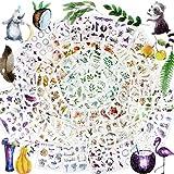 Scrapbooking Aufkleber 80 Blatt in verschiedenen Mustern Blumen Pflanzen Aufkleber Sticker Scrapbook Sticker Vintage Stickerbögen Blumen für Fotoalbum Kalender Notizbuch Tagebuch DIY Dekoration