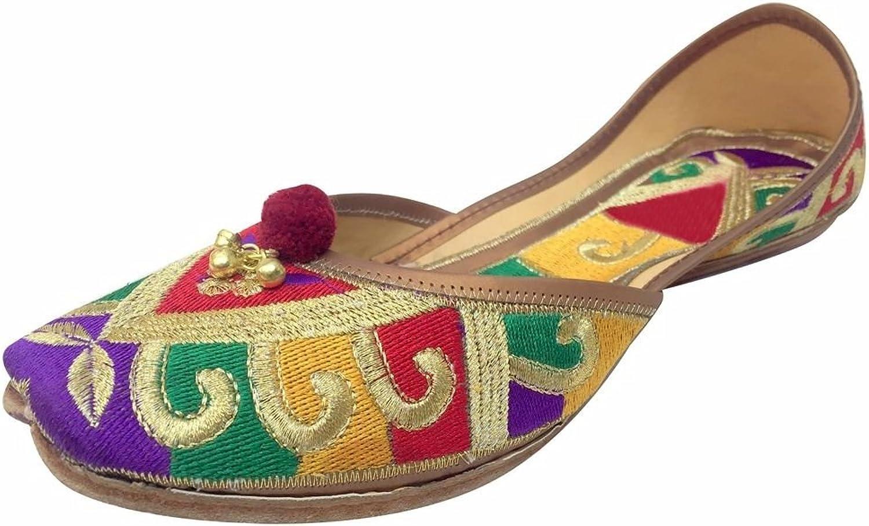 Step n Style Women's Leather & Foam Jutti shoes