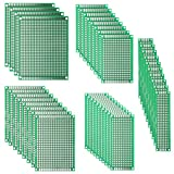 DEYUE 40PCs PCB Double-Sided Prototyping PCBs Circuit Boards Kit | 5 Size Universal untraced Perforated...