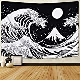 letaowl Tapisserie Wave Tapisserie, Great Wave Wall Tapisserry, Wave Tapestry with Sun Tapisserries,...
